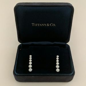 Tiffany & Co jazz graduated drop diamond earrings